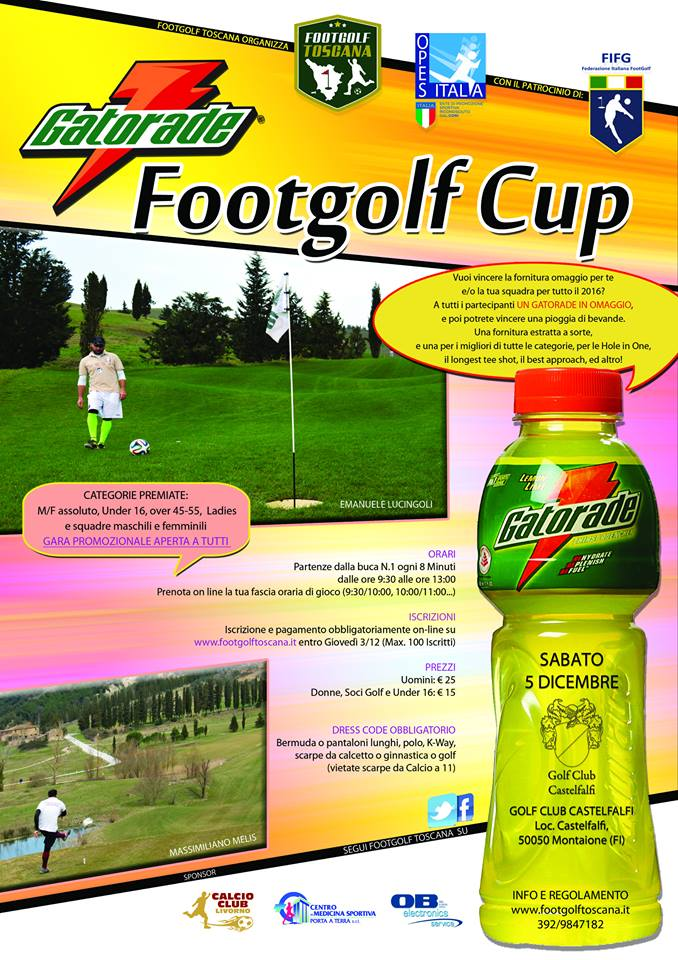 Locandina Gatorade Footgolf Cup