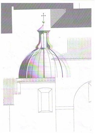 Disegno dell'architetto Silvano Salvadori.