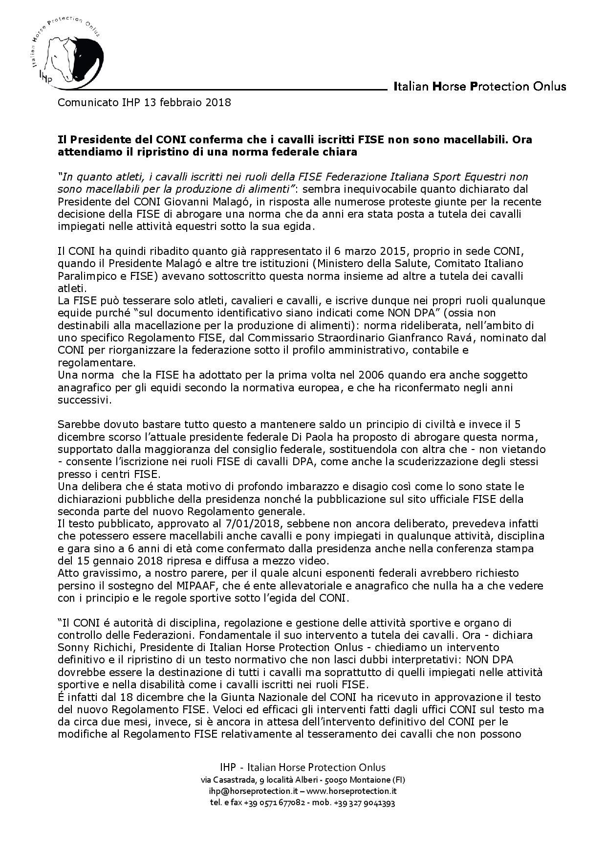 Comunicato IHP - FISE e cavalli macellabili 20180213 (1)-page-001