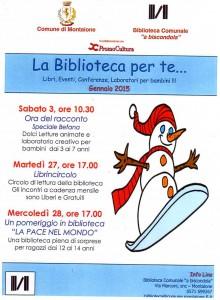 eventi biblioteca gennaio