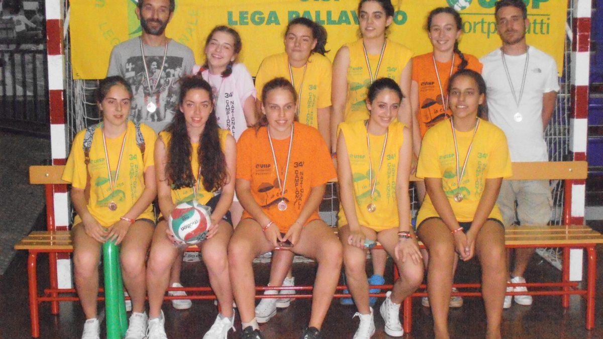 le ragazze che hanno partecipato a Rimini, dopo la premiazione con la maglietta Uisp