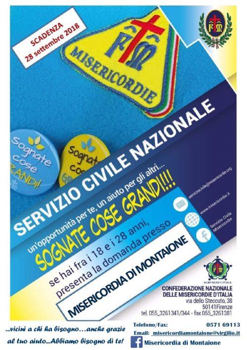 SERVIZIO CIVILE volantino_2018
