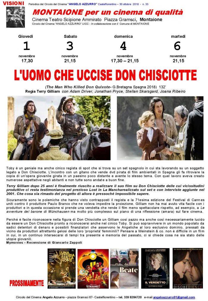 L UOMO CHE UCCISE DON CHISCIOTTE